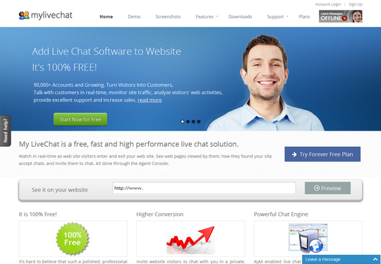 live chat support free