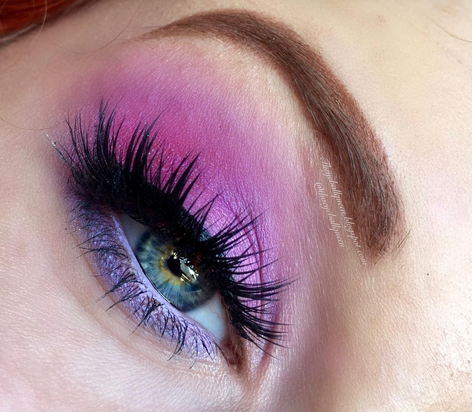 Iridescent Soft Magenta & Light Lilac Smokey Eye Makeup