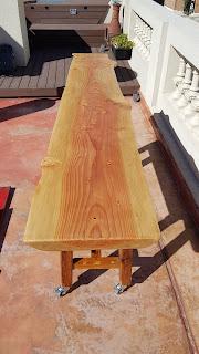 Cipres wood bar table