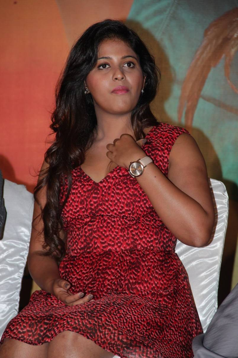 Movie Actress Anjali Hot Thigh Show Images In Red Dress