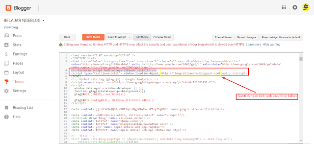 Cara Mengalihkan Link Blog lama Ke Blog Baru Kita atau Membuat Redirect Link ke Blog Baru