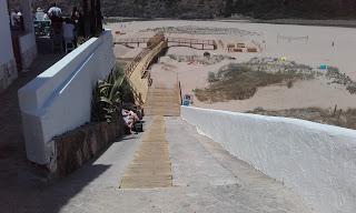 Acesso íngreme Praia Fluvial Odeceixe