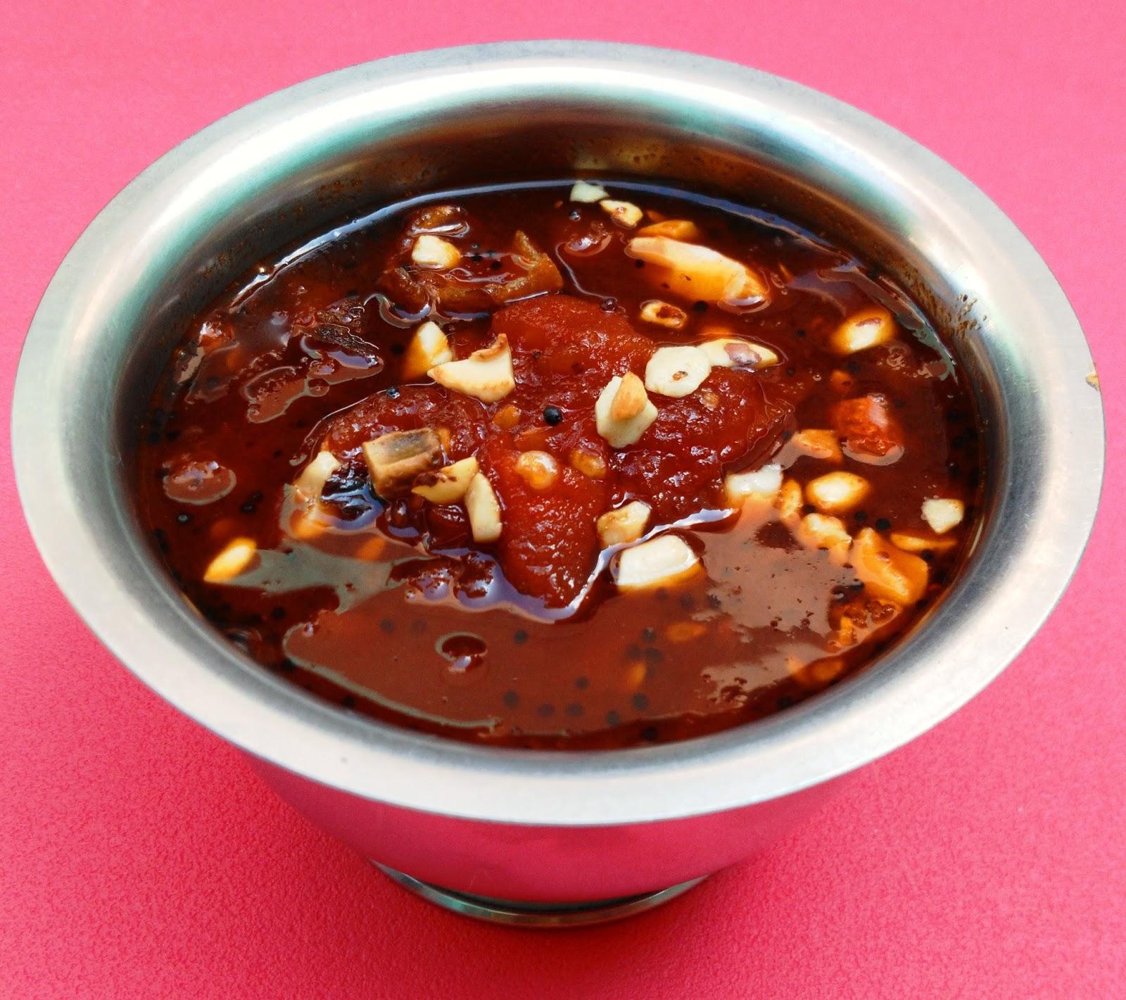 Sweet and Spicy Tomato Pachadi