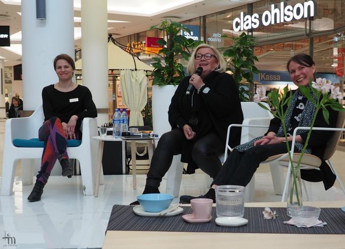 Irina Viippola, Sanna Tuomi ja Noora Niinikoski Finnish Design Dayssa
