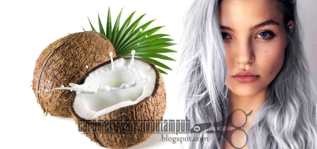 mengatasi rambut rontok dengan santan