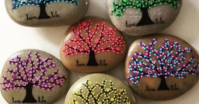 Simple Rock Painting Ideas Stone Art
