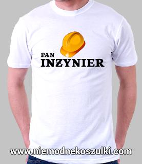 Pan inżynier - koszulka prezent na obronę