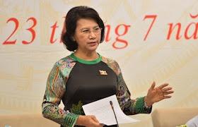 Chủ tịch Quốc hội Nguyễn Thị Kim Ngân trả lời báo chí ngày 23/7