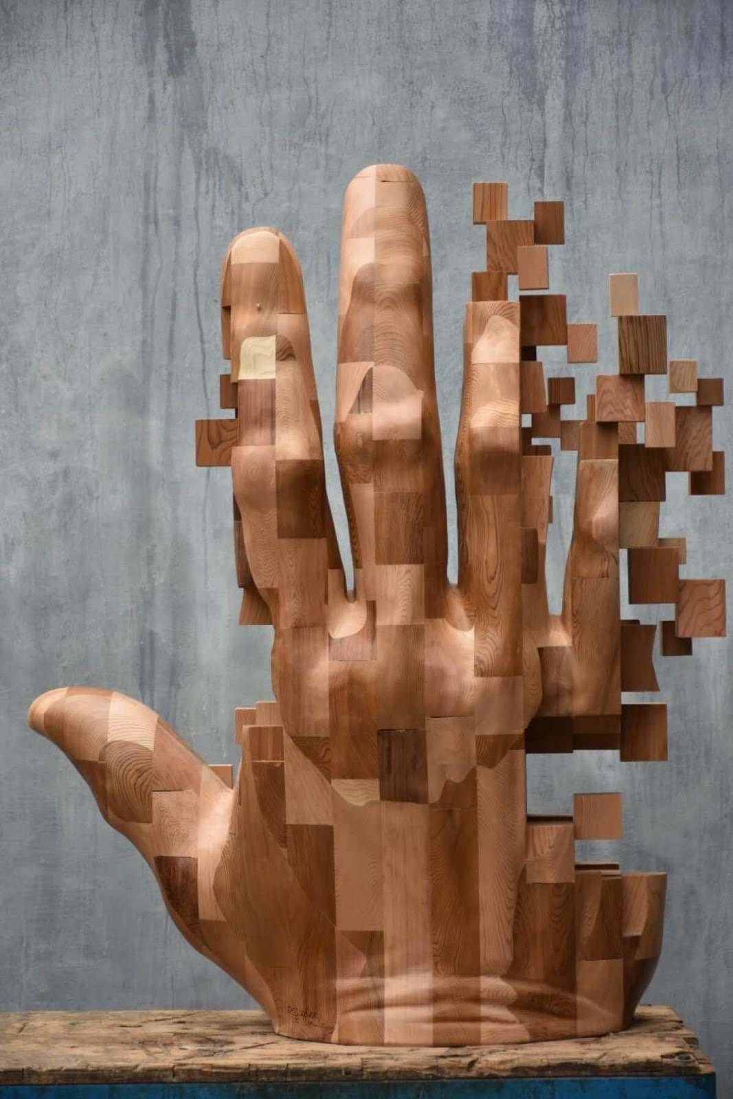 Stunning Wood Sculptures That Look Like Pixelated Glitches