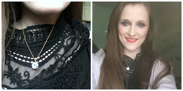 wearing magnetix jewellery diamante necklace