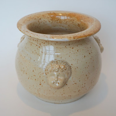 Handmade antique look stoneware / pottery vase / planter by Lily L.