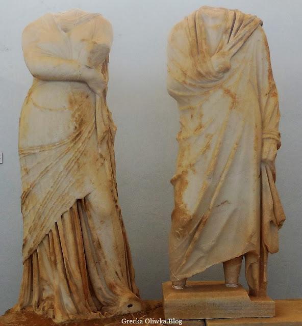 Posąg Kleopatry i Dioskuredesa Muzeum Delos Cyklady Grecja