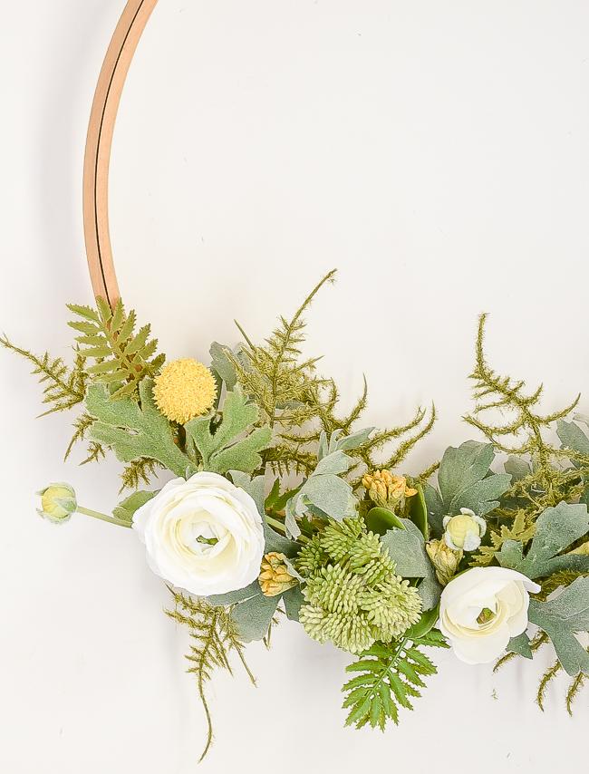 vintage quilt hoop wreaths