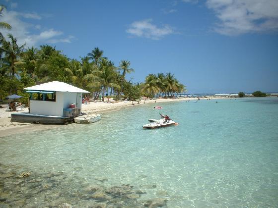 Plage de Sainte en Région Grande Terre , partie orientale de la Guadeloupe