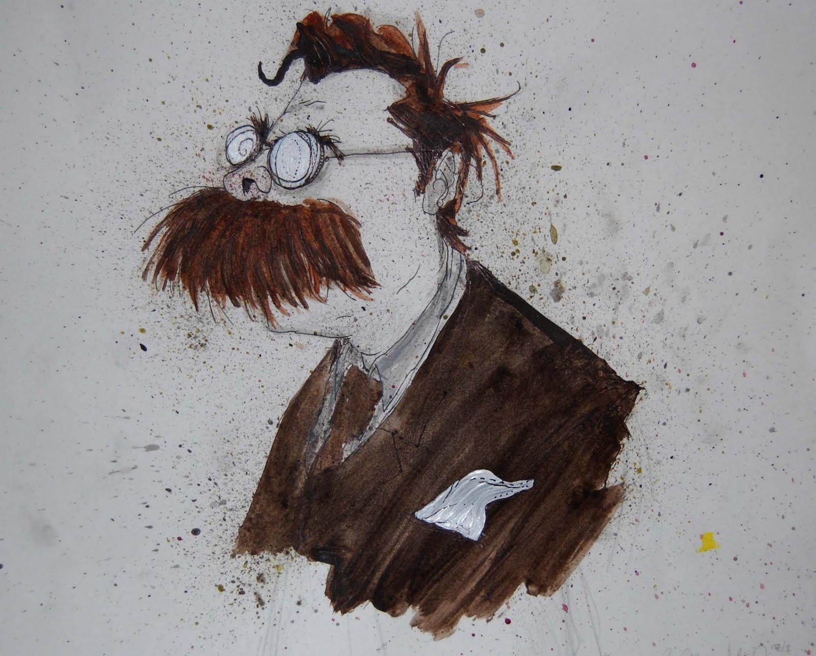 Glyn Crowder Nietzsche Cartoon