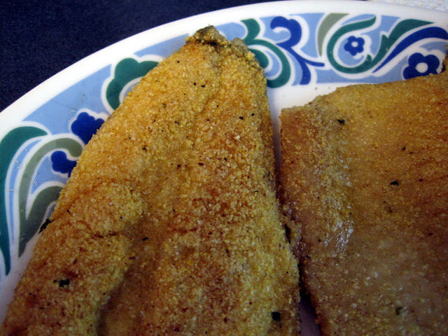 crispy skin pan fried trout cornmeal