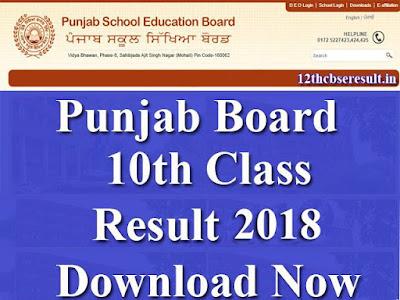 Punjab Board 10th Class Result 2018