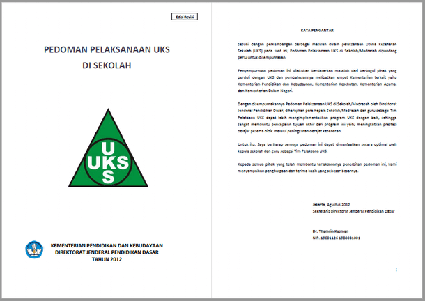 Pedoman Pelaksanaan Kegiatan UKS di Sekolah dan Madrasah