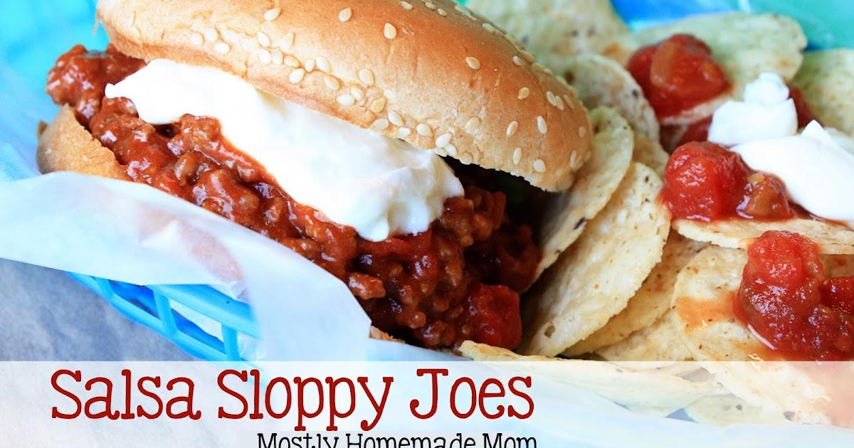 Salsa Sloppy Joes Mostly Homemade Mom