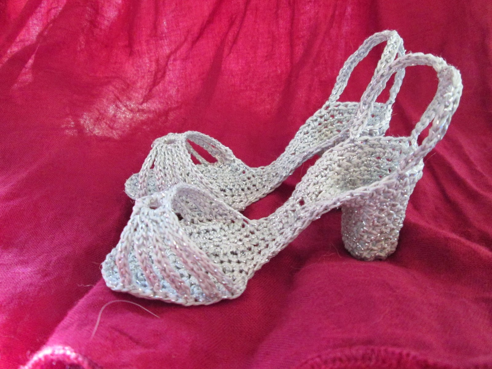5465acfa59b6 I made the lacey-looking ones and the sandals from the pattern