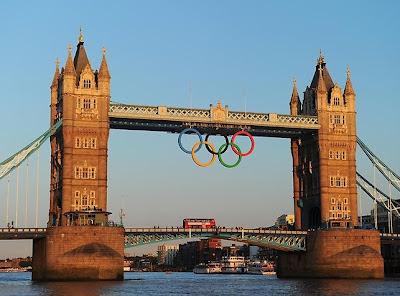 Summer London Olympics 2012 at Tower Bridge