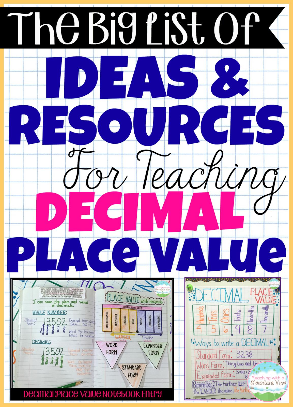 Rounding Decimals Poster