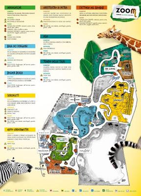 Mappa Bioparco Zoom Torino 2017