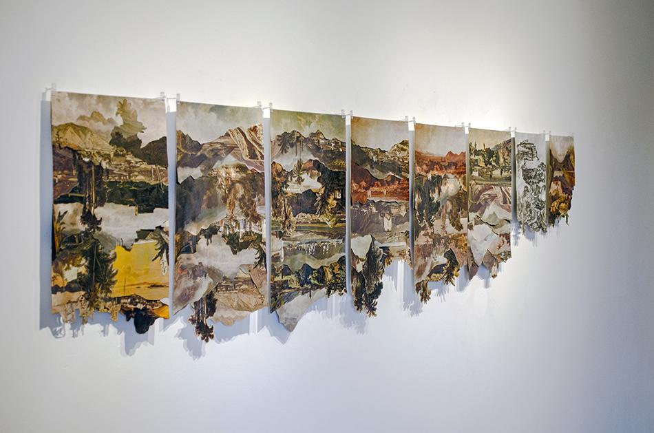collages de la serie sedimentaciones con imágenes de ferdinand bellermann