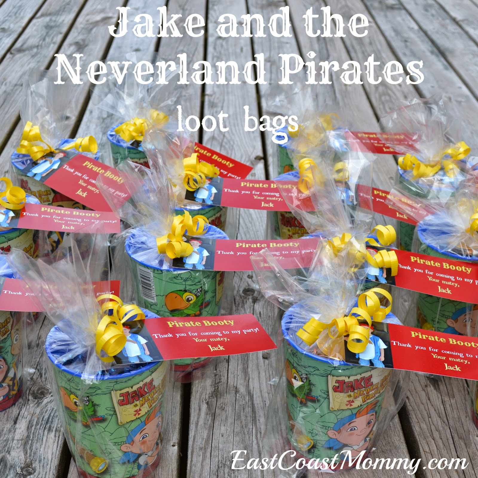East Coast Mommy Jake And The Neverland Pirates Party Loot Bags