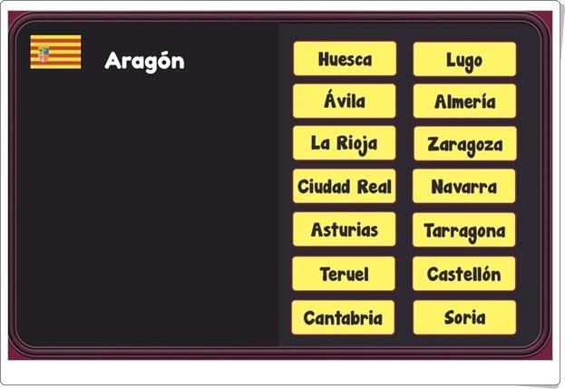 """""""Juego de agrupar provincias españolas"""" (Ciencias Sociales de Primaria)"""