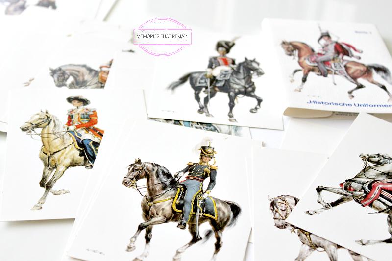 pocztówki z historycznymi mundurami