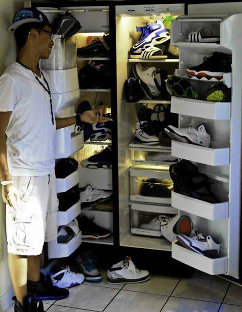 Storing Nikes in the refrigerator. Got Milk? marchmatron.com
