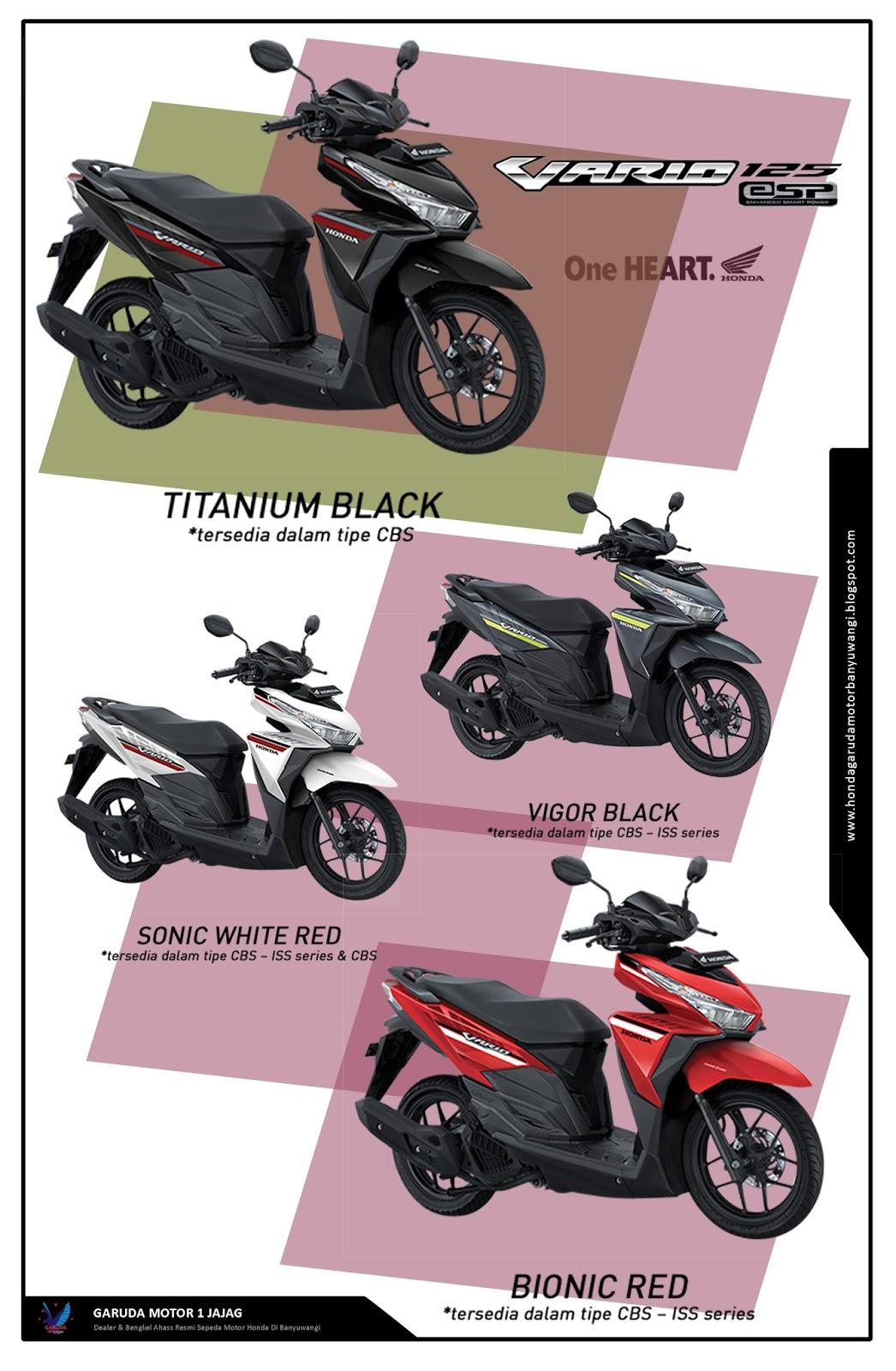 Vario Techno 125 Honda Banyuwangi Garuda Motor 1 New Esp Cbs Iss Bionic Red Klaten