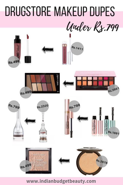 Five Drugstore Dupes Under Rs.799