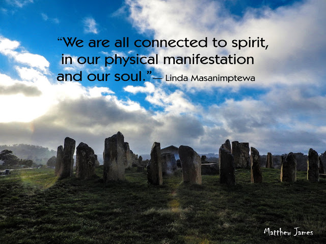 """""""We are all connected to spiriti, in our physical manifestation, and our soul"""" - Linda Masanimptewa"""