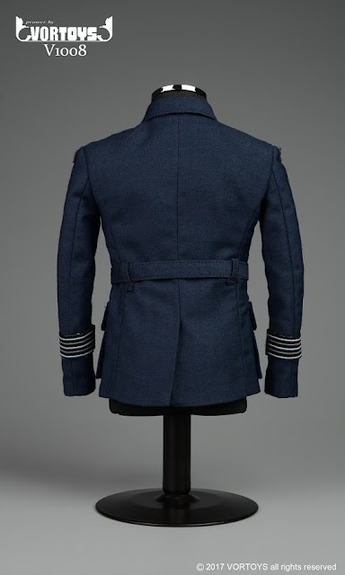 osw.zone BEFORE Toys 1 / 6. Scale WWII Allied Flying Officer Uniform for 12-inch Brad Pitt as Max Vatan Figure