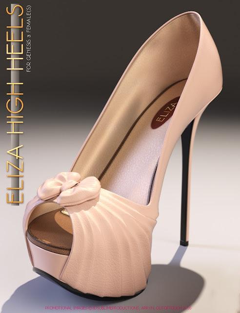 Eliza High Heels for Genesis 3 Female