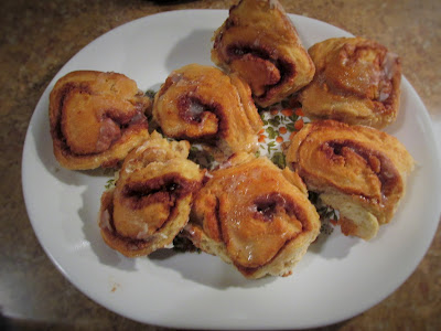 Made cinnamon rolls- Frugal Ways this Past Week and No Spend January Week #3-Vickie's Kitchen and Garden
