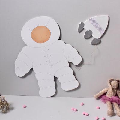 silueta infantil decoración Astronauta