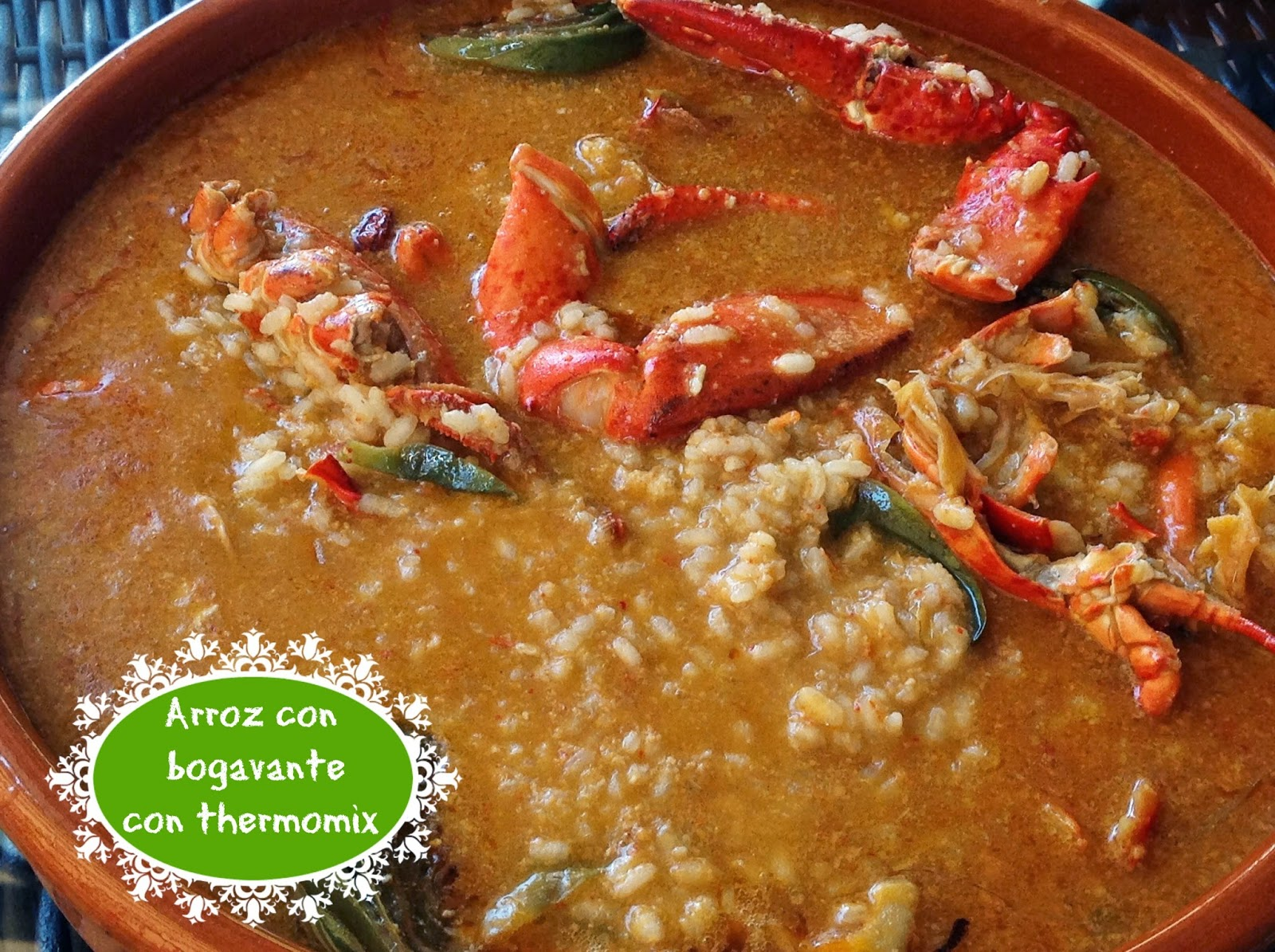 ARROZ CON BOGAVANTE CON THERMOMIX