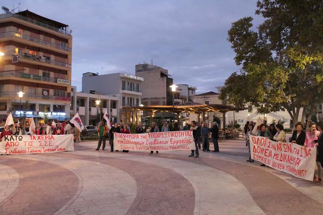 Μαζικό συλλαλητήριο από σωματεία και επιτροπές αγώνα για το ζήτημα των Συλλογικών Συμβάσεων Εργασίας στο Άργος
