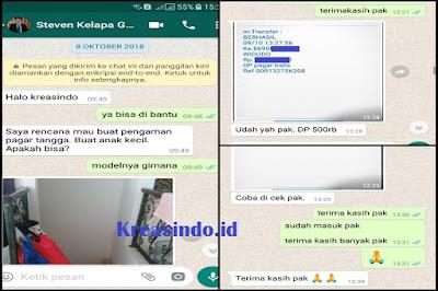 Pintu Tangga Besi dan Teralis Besi Pesanan Bpk Steven Kelapa Gading Jakarta Utara