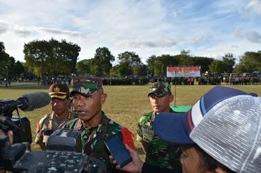 Korem 161/WS Apel Gelar Pasukan Pengamanan Kunjungan RI 1