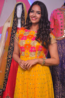 Pujitha in Yellow Ethnic Salawr Suit Stunning Beauty Darshakudu Movie actress Pujitha at a saree store Launch ~ Celebrities Galleries 043.jpg