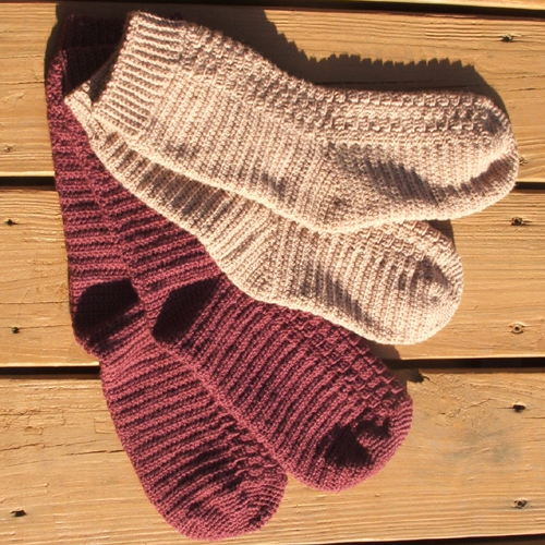 Top Down Crochet Socks - Free Pattern