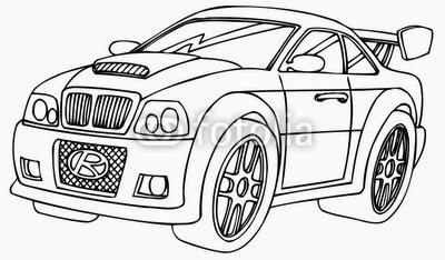 Car Insurance: Sports Car Outline Logo