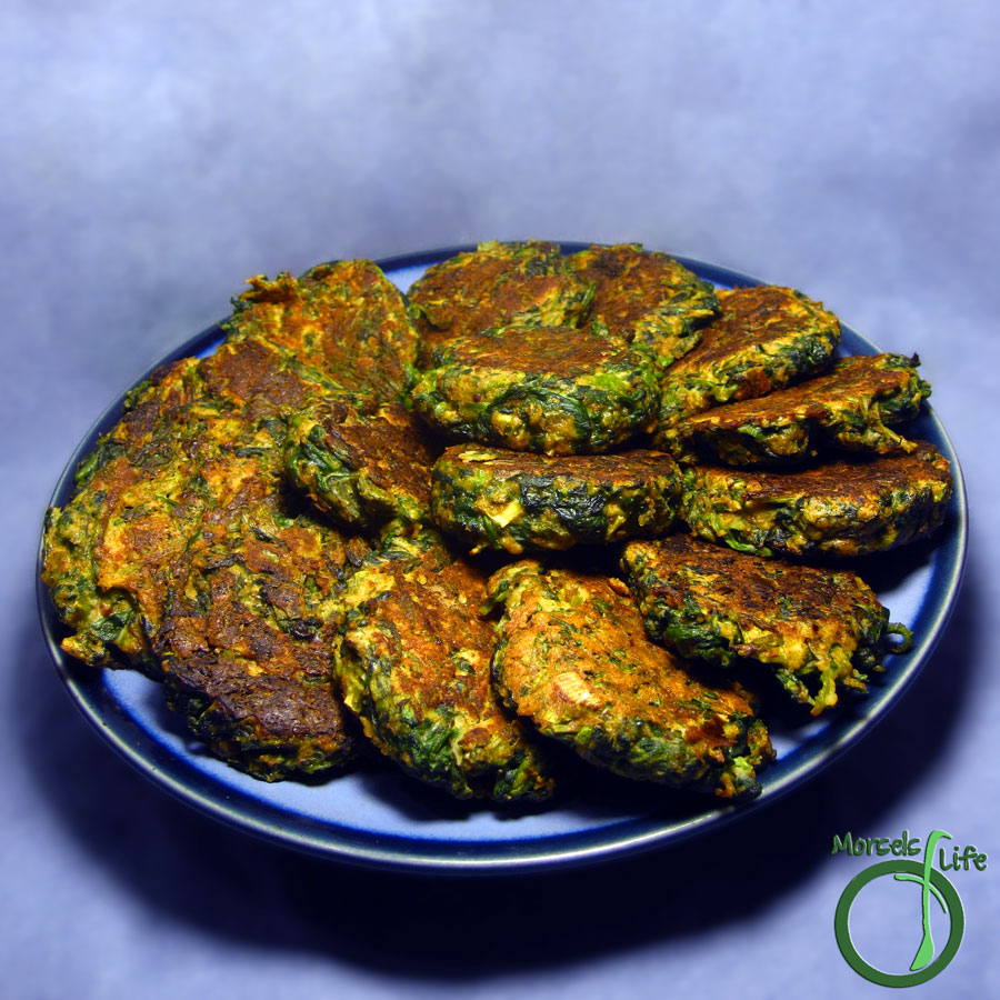 Morsels of Life - Spinach Patties - These hearty, filling spinach patties with a bit of cheese are sure to satisfy the palate and the belly.