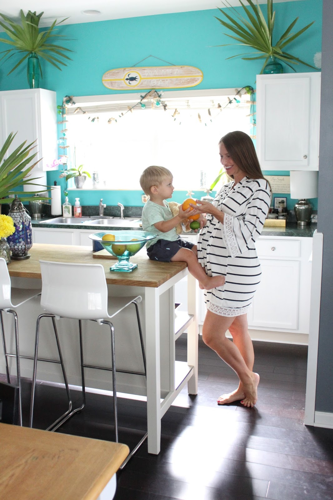 Beach House DIY: Painting Kitchen Cabinets