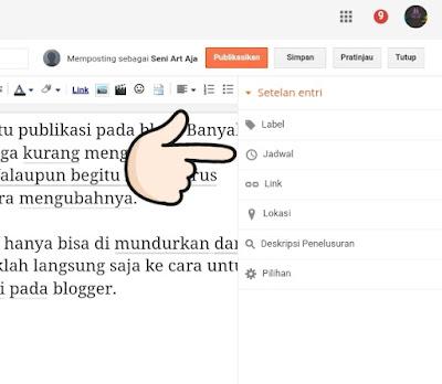 Cara Mengubah Waktu Publikasi Blog Pada Blogger