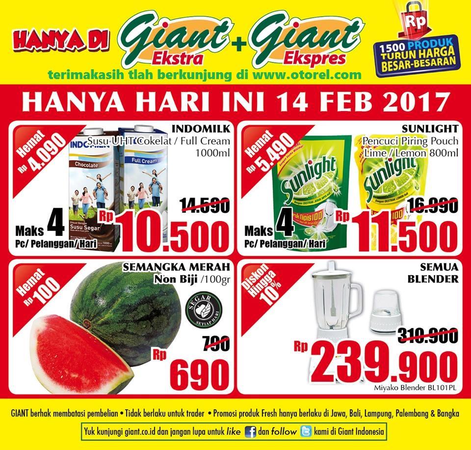 Promo Giant Weekday Awal Pekan Setiap Selasa Periode 14 Februari 2017
